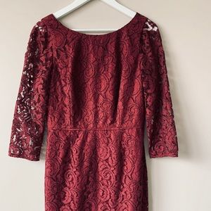 J Crew Burgundy Lace Dress